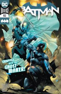 Batman fighting Ghostmaker