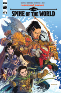 Dungeons and Dragons at the Spine of the World #1 Cover RIB. IDW Publishing
