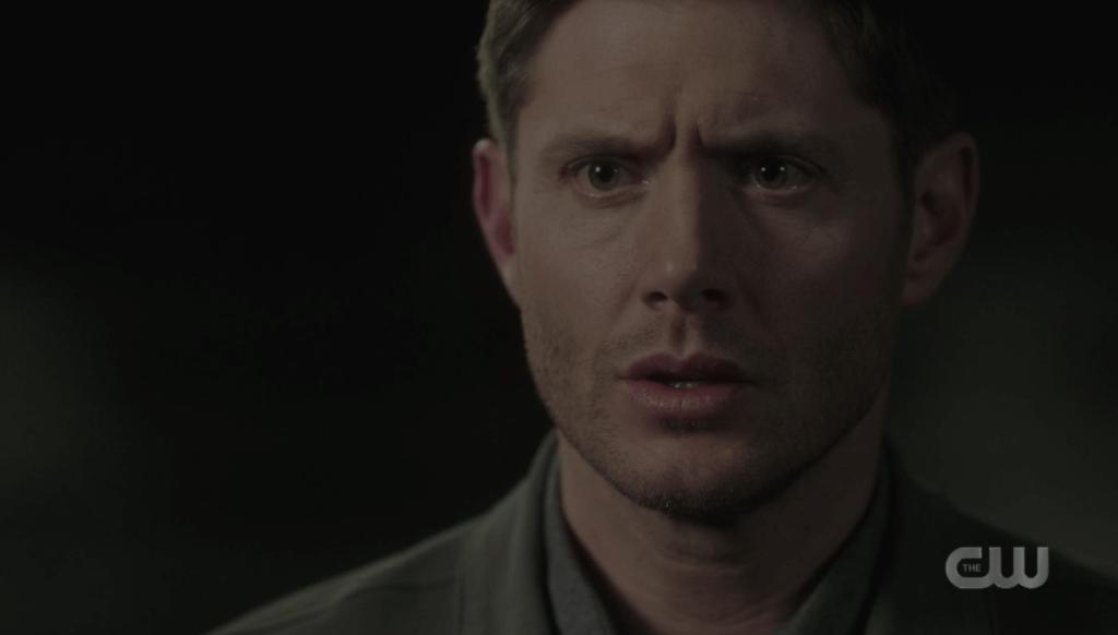 "Dean looking at Cas in ""Despair."""