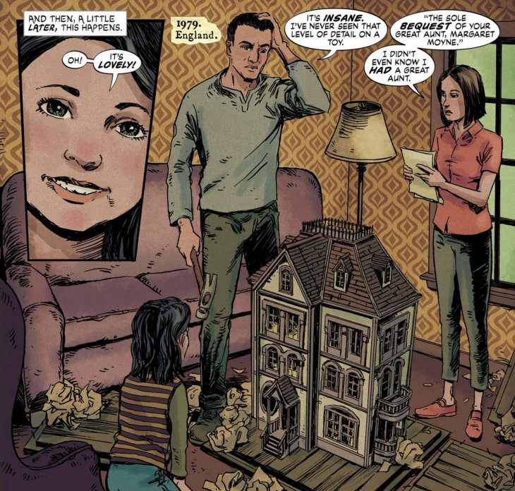 Alice receives the dollhouse in The Dollhouse Family