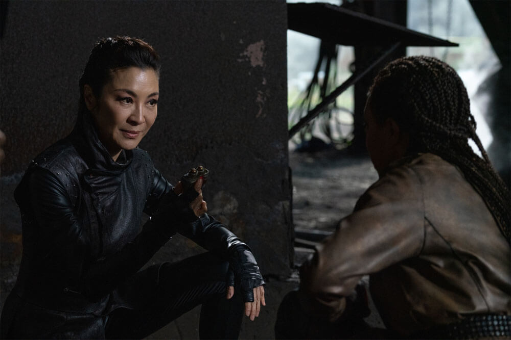 "Georgiou (Michelle Yeoh) and Michael Burnham (Sonequa Martin-Green) search for a 'black box' in Star Trek Discovery's ""Scavengers"" (Season 3, Episode 6)"
