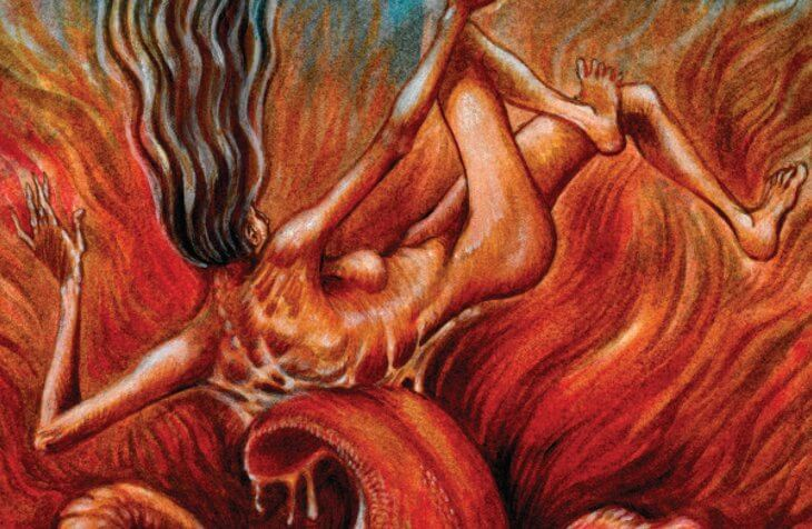 Detail from the cover of The Myth of Falling by Charlee Jacob.