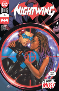 Nightwing and Bea in the crosshairs