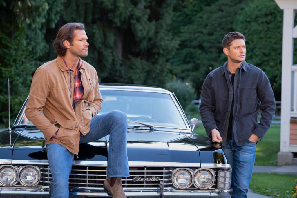Sam and Dean in the Supernatural finale.
