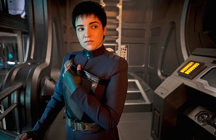 "New character Adira (Blu Del Barrio) joins the main crew of Star Trek: Discovery in Season 3, Episode 3, ""People of Earth."