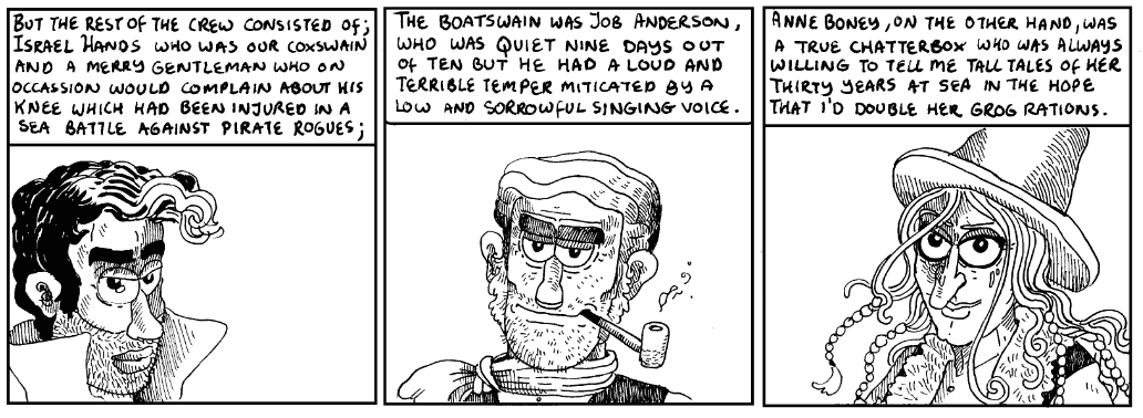 Panels from Hugh Madden's Treasure Island