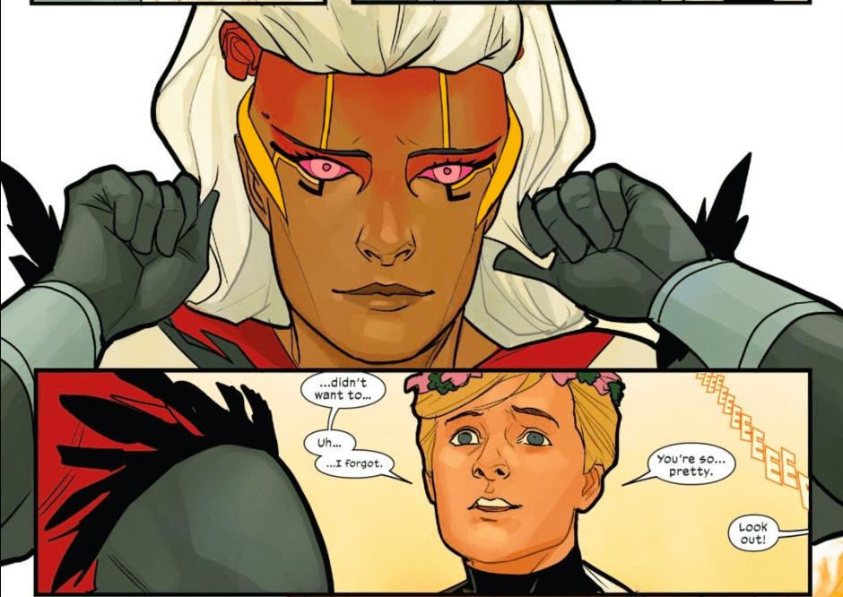 Excalibur #14 - Marvel - November 2020 - Phil Noto - Doug stunned by Bei's beauty