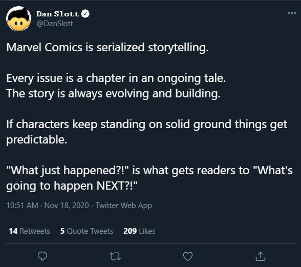Dan Slott defends his retcon as a part of serialized storytelling