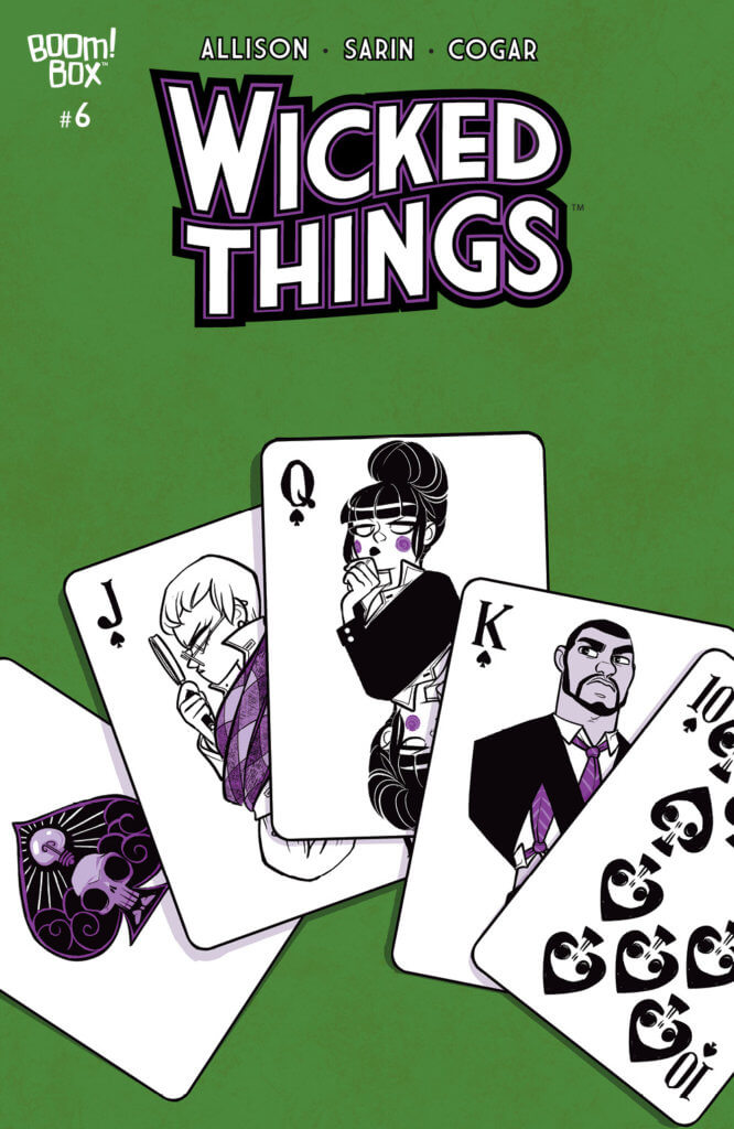 Cover A of WIcked Things #6 by Max Sarin