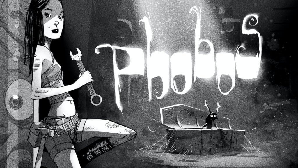 Phobos title image from the kickstarter for the graphic novels.