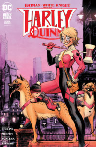 Harley Quinn and babies with hyenas