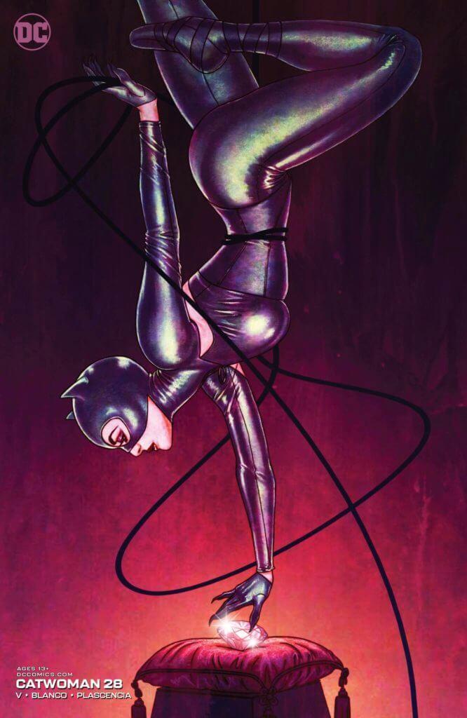 Catwoman stealing a gem