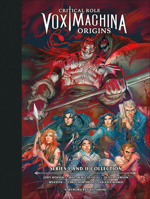 Cover for the Library edition of Critical Role: Vox Machina Origins