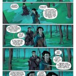 Vax and Vex talk in the forest. From Critical Role: Vox Machina Origins vol. 1, by Colville, Samson, Northrop