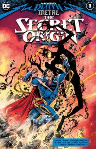 Superboy Prime punching the Darkest Knight