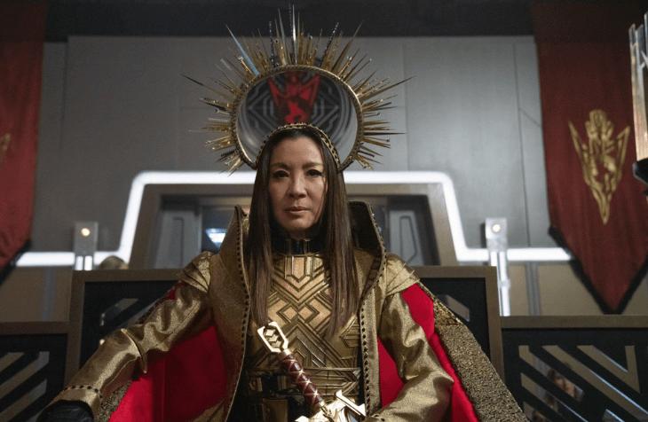 Michelle Yeoh as mirror Georgiou