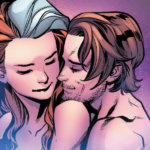Rogue and Gambit embracing on Krakoa