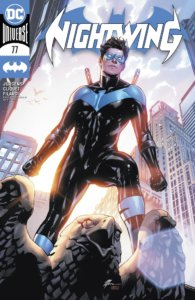 Nightwing standing in front of the dawn