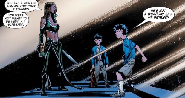 Talia al Ghul confronting Damian
