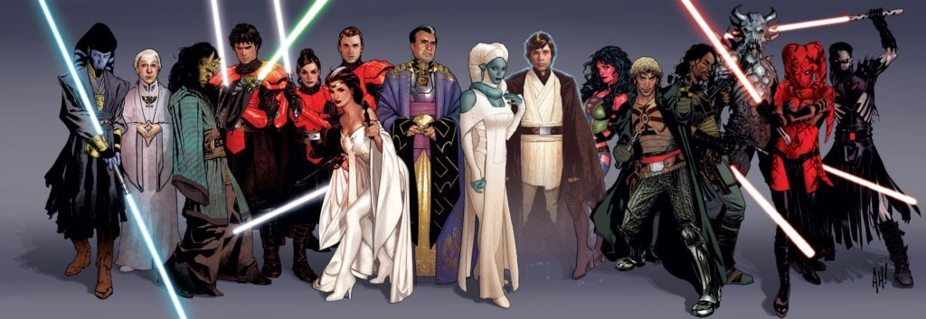 A series of Star Wars: Legacy characters by Adam Hughes