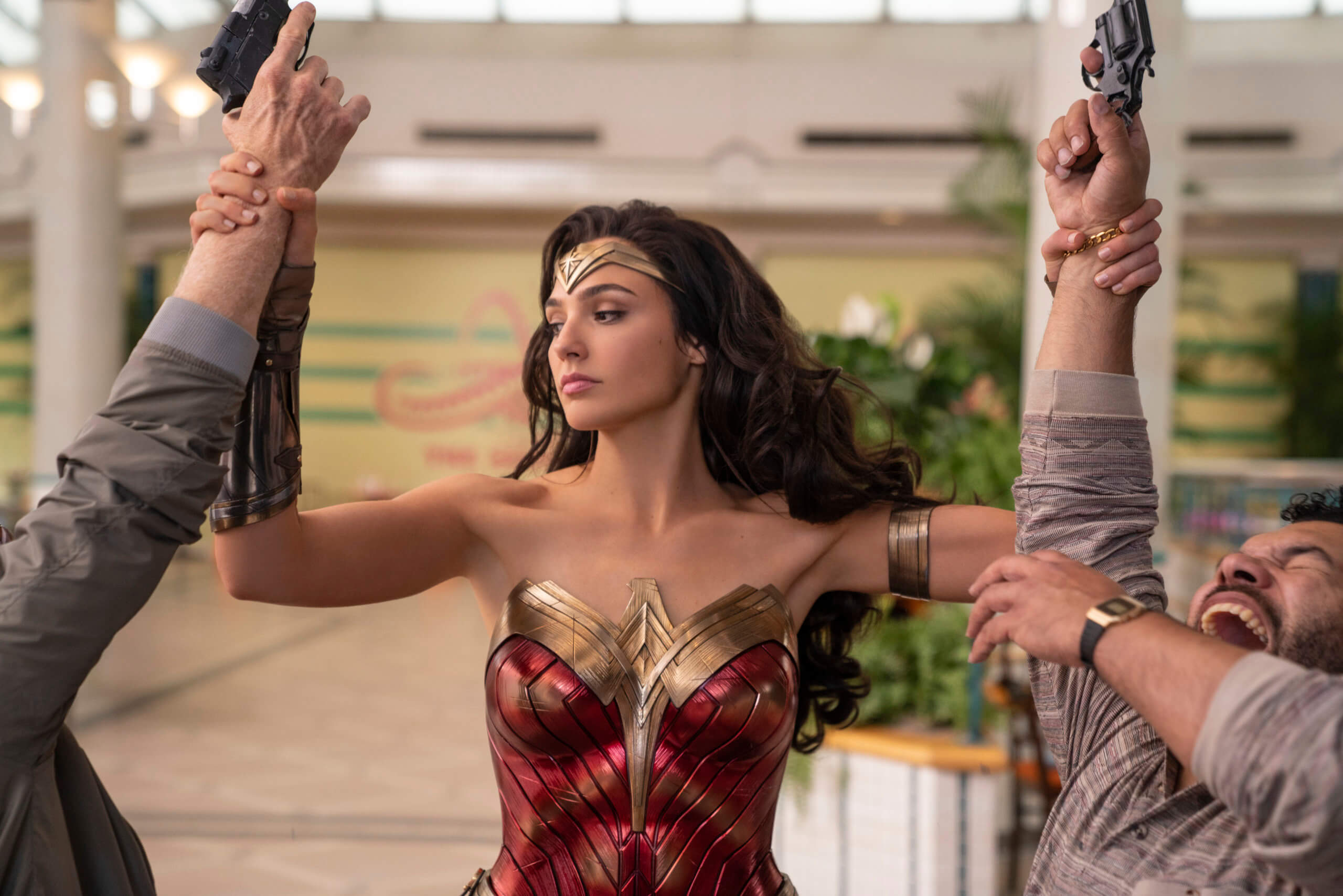 Gal Gadot as Wonder Woman in Wonder Woman 1984. Patty Jenkins (Director and Writer). Image courtesy Warner Brothers Media