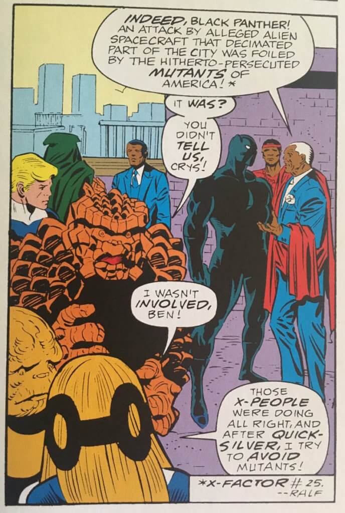 Black Panther discusses an attack on the city with the mayor that Crystal tells Ben she wasn't involved in