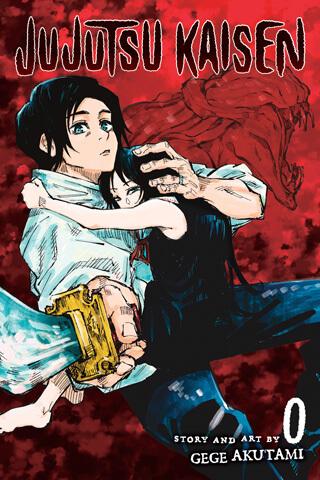 cover of Jujutsu Kaisen 0, depicting yuta okkotsu and rika