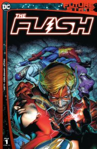 An evil Wally West menacing the Flash family on the cover of Future State: The Flash