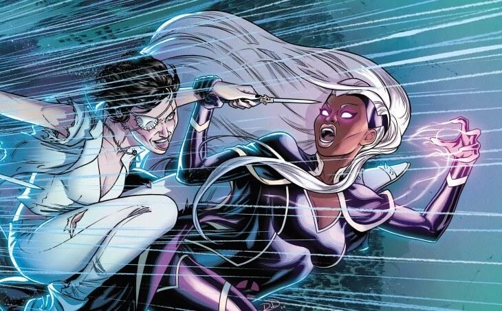 Storm and Callisto fight