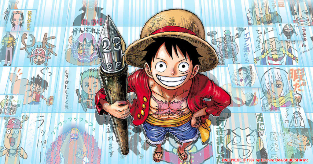 Promotional image for One Piece reaching 1000 chapters