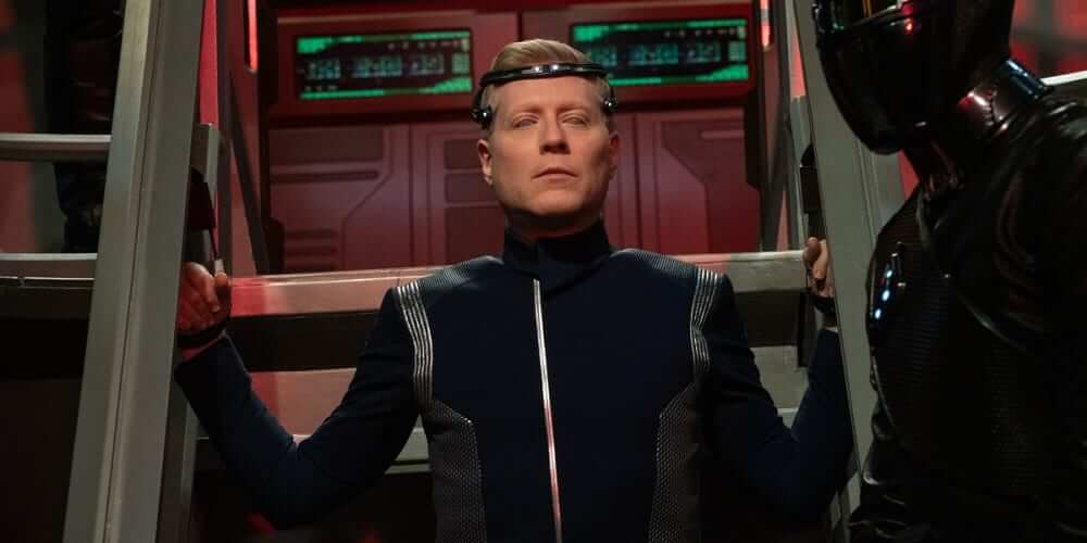 """Stamets Comes Under Control of the Emerald Chain (Anthony Rapp) in Star Trek Discovery, S3E12, """"There Is A Tide..."""""""