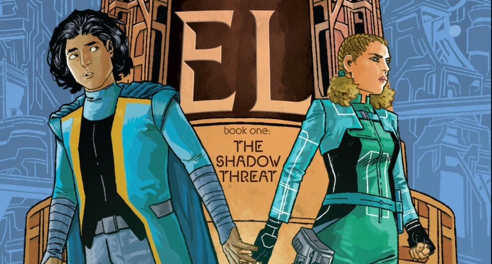 two young adults look away from each other on the cover of book 1 of house of el