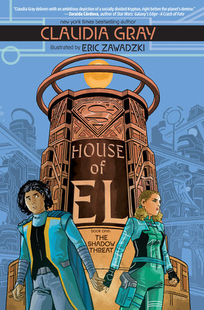 two determined young adults look away from each other on the cover of House of El book one