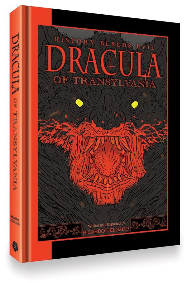 Cover of Dracula of Transvylvania by Ricardo Delgado (Clover Press, 2021)