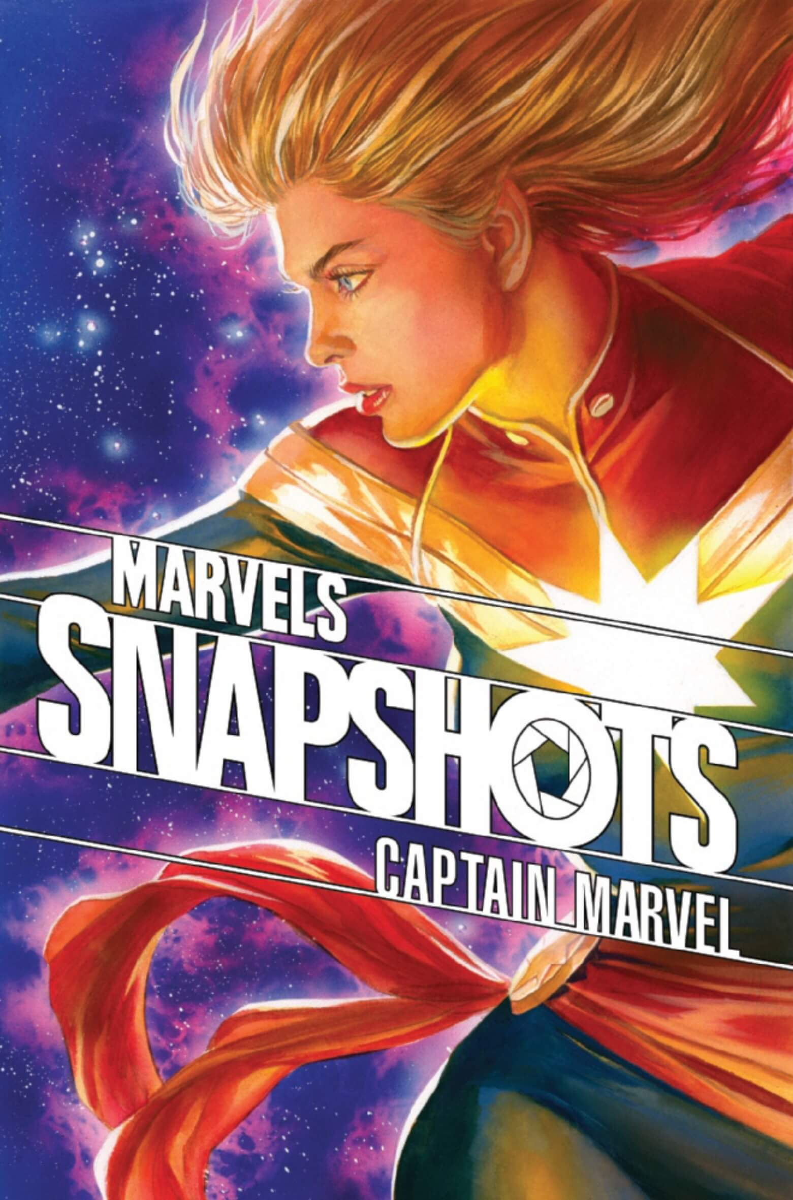 Captain Marvel: Marvels Snapshots #1 'What's Your Story?' Cover Joe Caramagna (Letters), Claire Roe (Artist), Mike Spicer (Colours), Mark Waid (Writer) Marvel Comics February 24, 2021