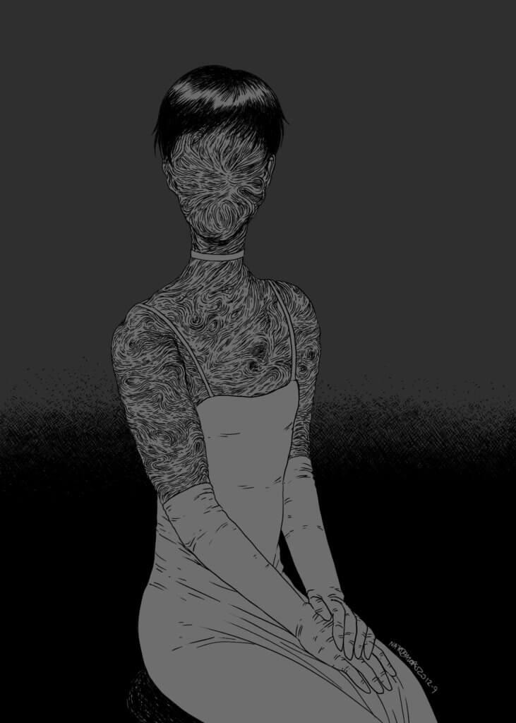 """Faceless"" illustration by Natalia Lopes"