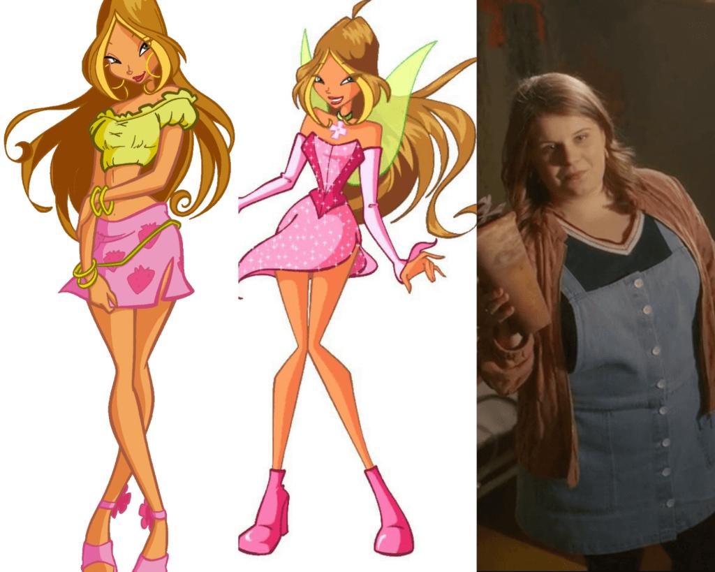 Comparing Winx Club's Flora to Winx Saga's Terra.