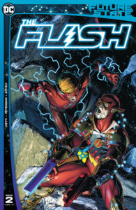 Famine Wally West attacking bearded Barry Allen - Future State Flash 2 Cover by Peterson