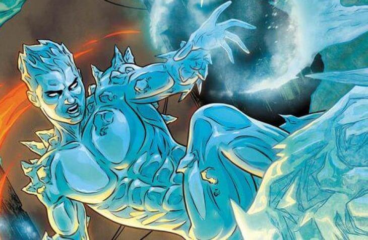 Iceman wields his ice powers