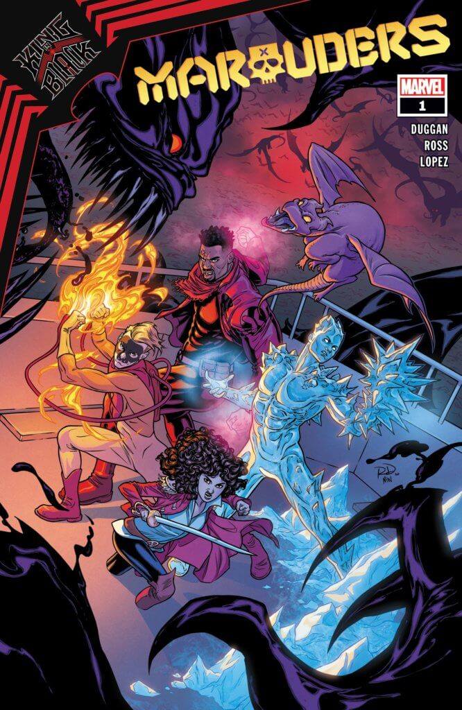 The Marauders fight off a big black symbiote