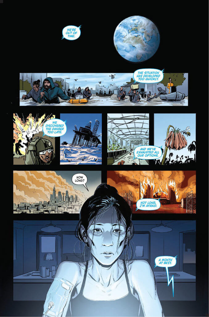 Interior image of FUTURE from the science fiction graphic novel.
