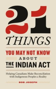 the book cover of 21 Things You May not Know about the Indian Act, nonfiction by Bob Joseph
