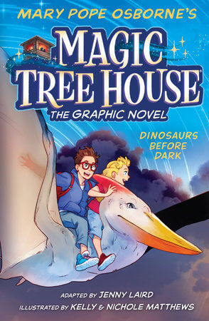 cover of Magic Tree House: Dinosaurs before Dark, the graphic novel