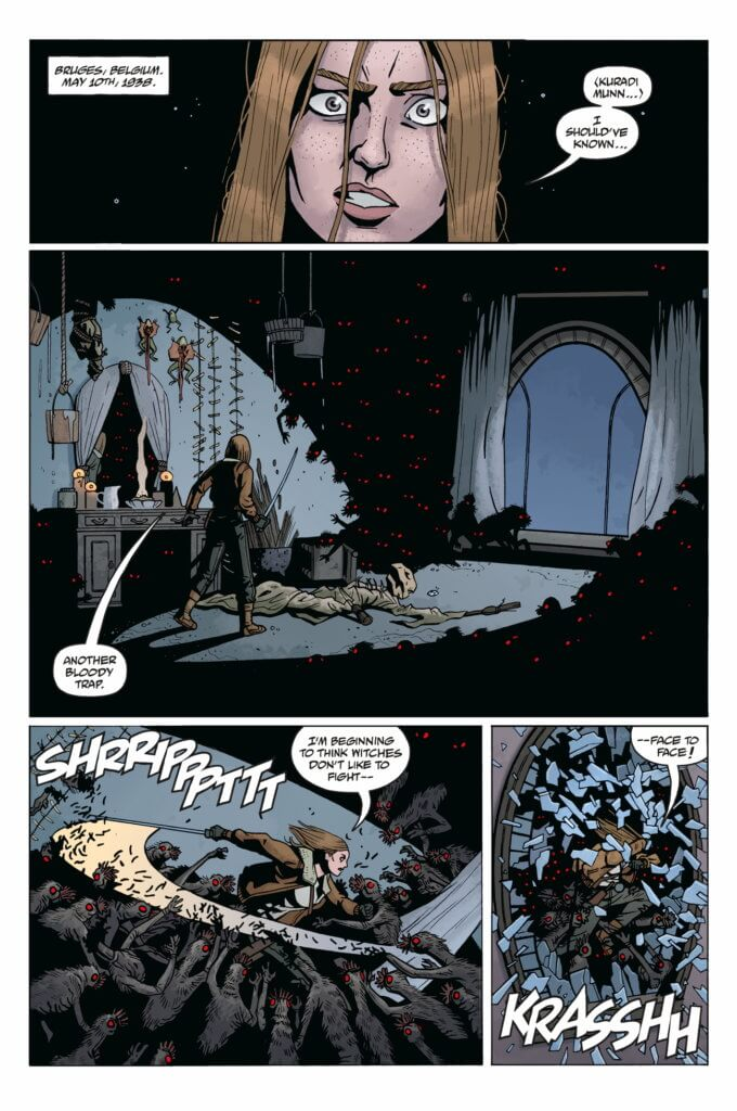 Panels from Lady Baltimore #1 (Dark Horse Comics, March 2021)