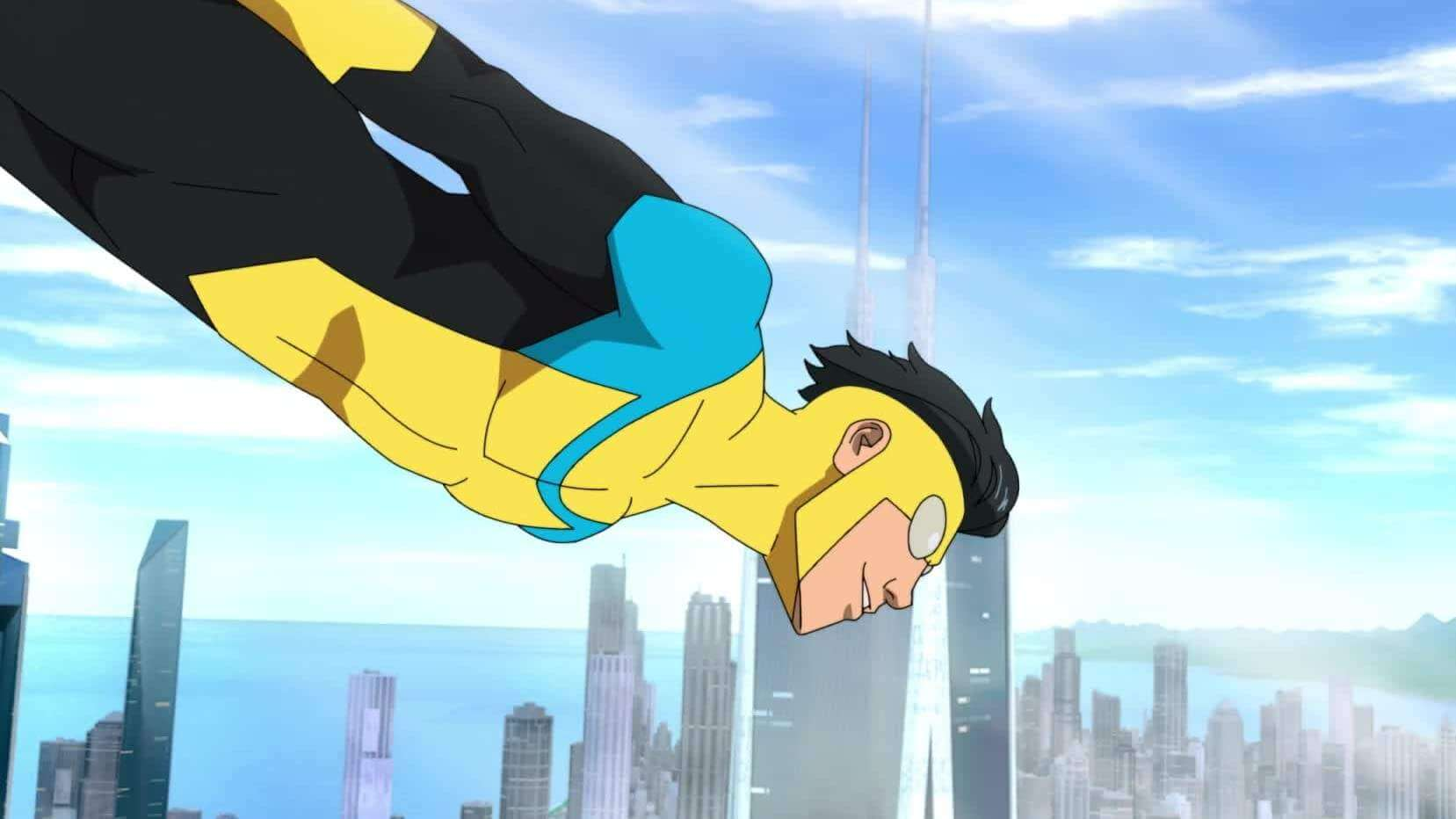 Invincible test out his powers and new suit.