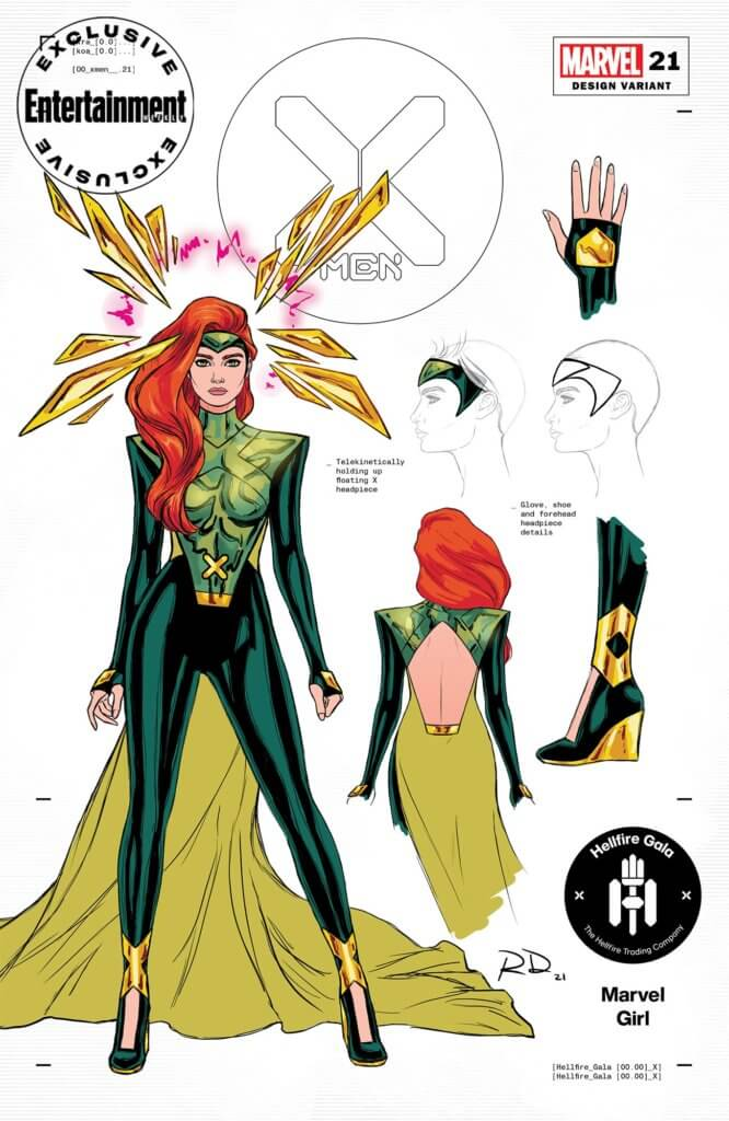 Entertainment Weekly Hellfire Gala costume for Jean Grey