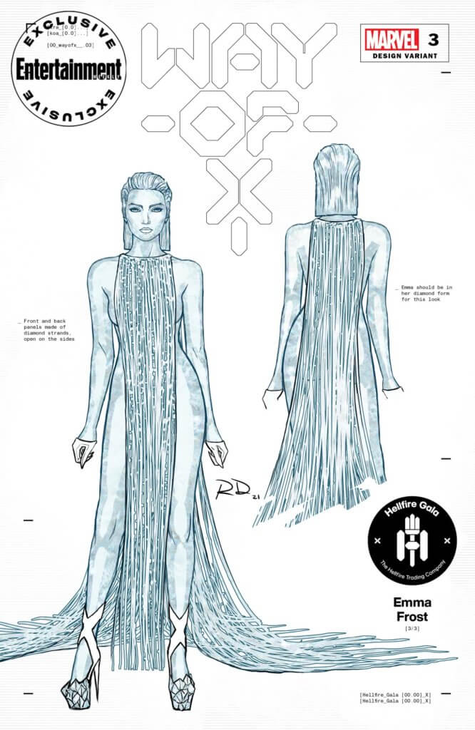 Entertainment Weekly Hellfire Gala costume for Emma Frost