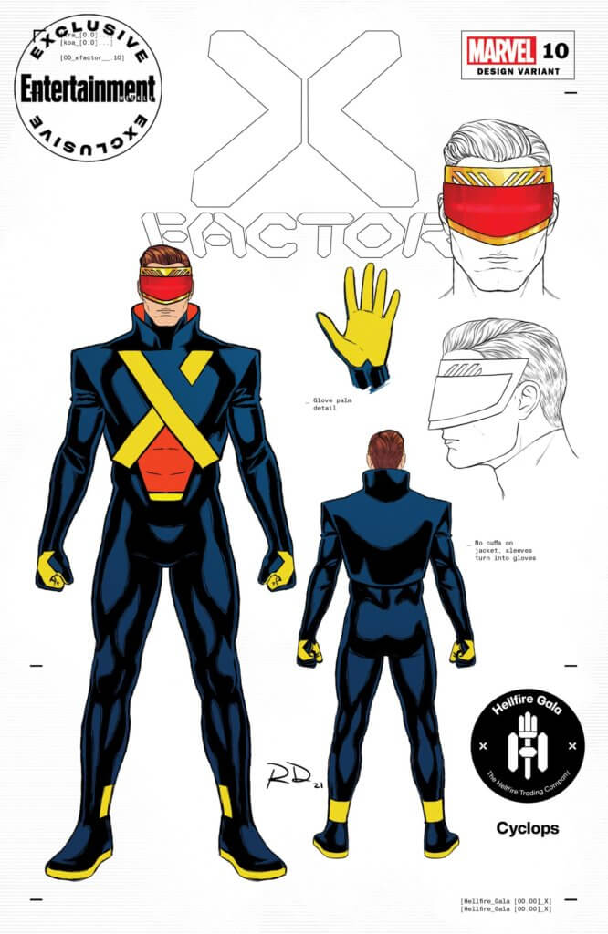 Entertainment Weekly Hellfire Gala costume for Scott Summers