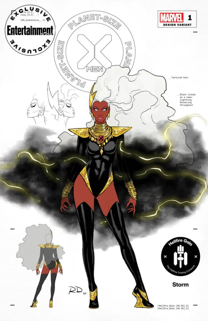 Entertainment Weekly Hellfire Gala costume for Storm