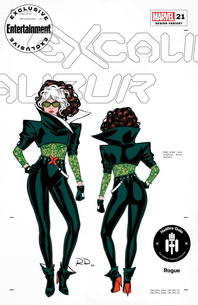 Entertainment Weekly Hellfire Gala costume for Rogue